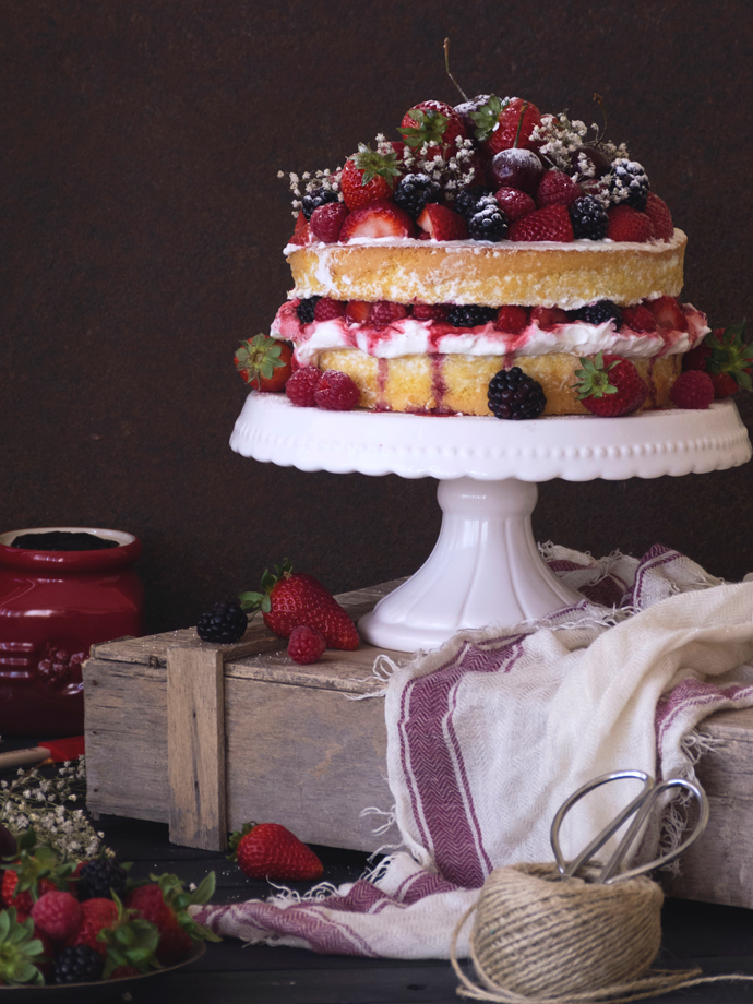 Summer Naked Cake With Berries Pemberley Cup Cakes