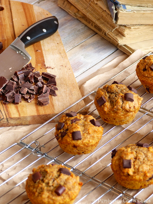 Muffins y chocolate